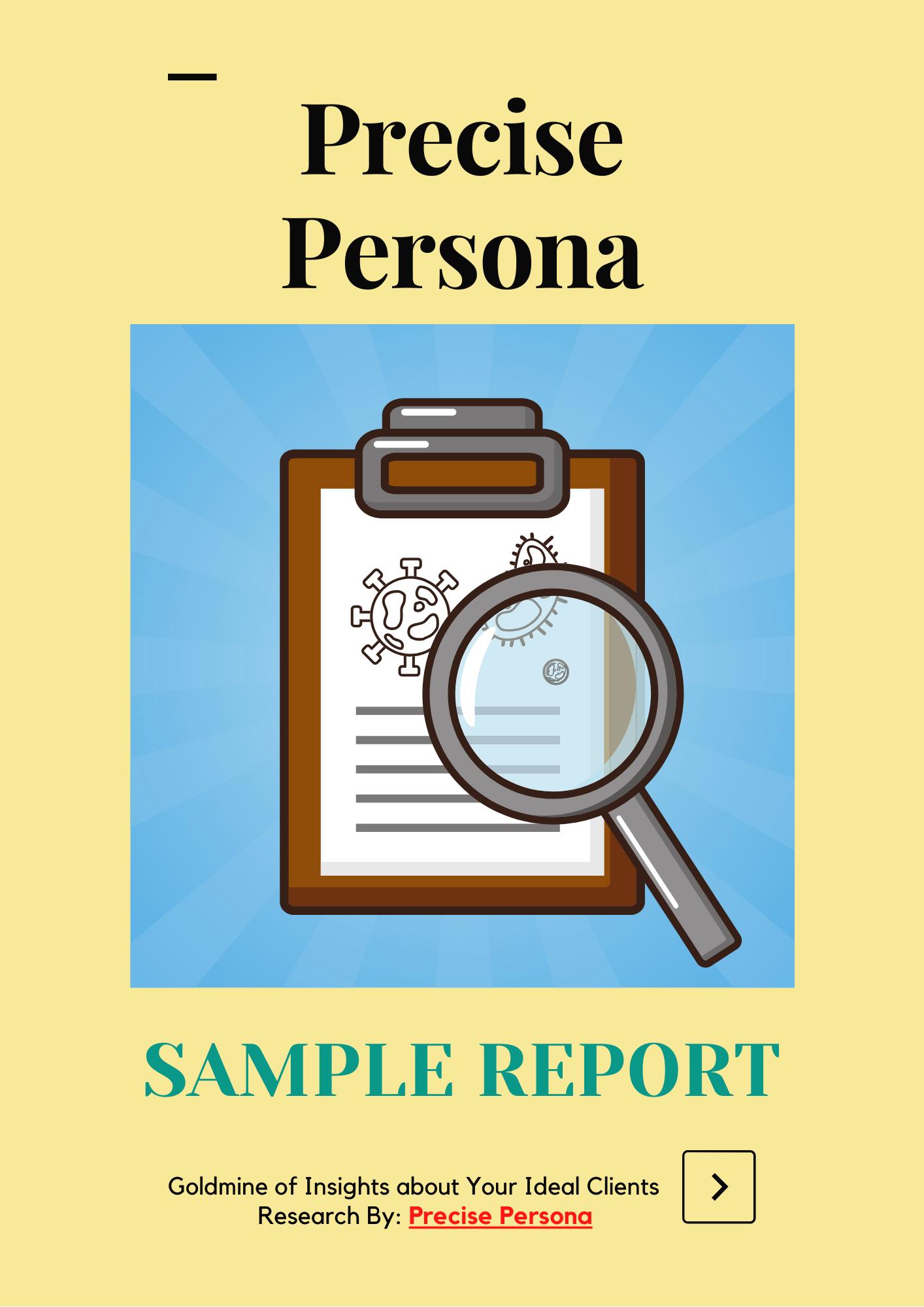 SAMPLE REPORT PRECISE PERSONA